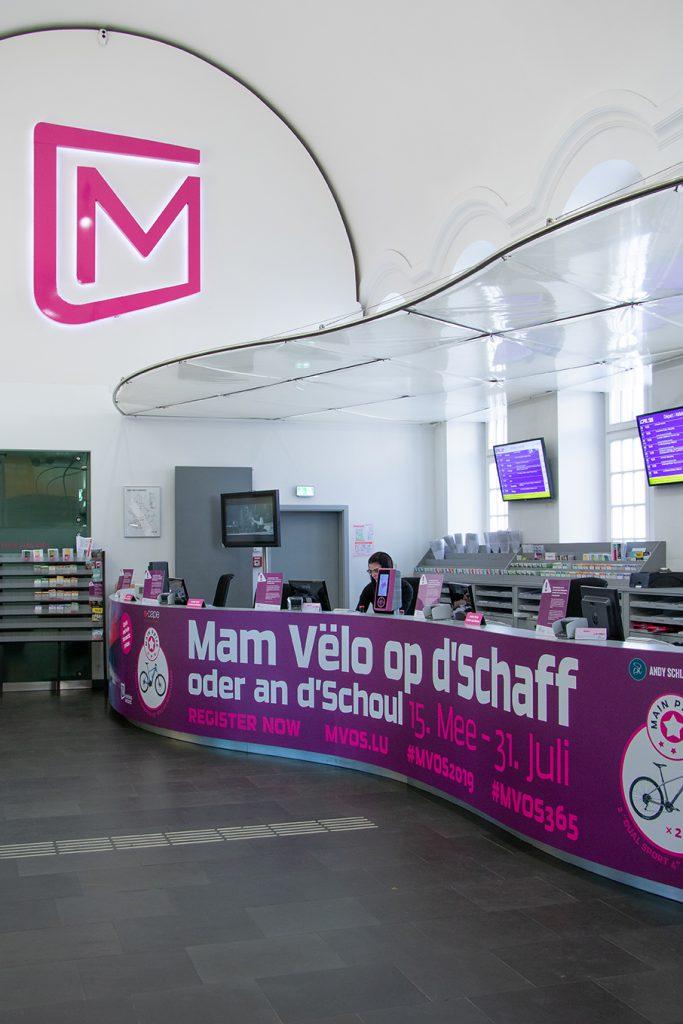 Guichet Mobilitéitszentral à la Gare centrale
