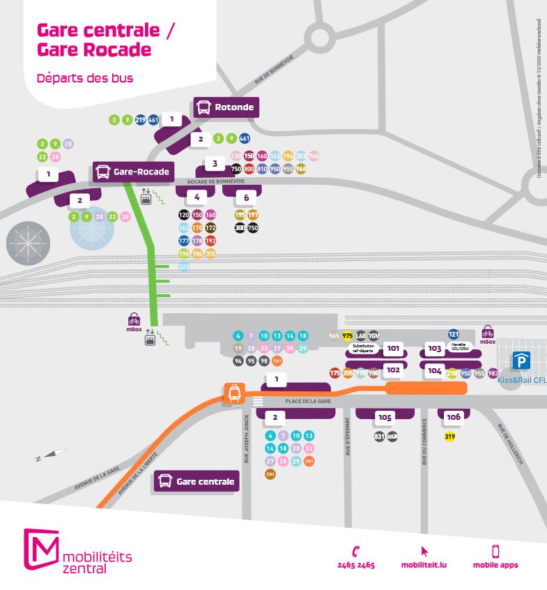 Gare routière Luxembourg
